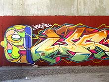 "Mural ""Zana & Pel"" 2014"