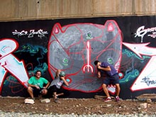 Graff in Red, con Ipur y Soze