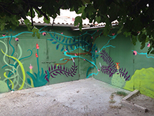 "Trabajo mural en ""La Guarida"" (Cartagena)"